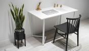 9 mẫu bàn làm việc màu trắng sang trọng