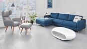 Trang trí phòng ngủ bằng ghế da đơn chân gỗ