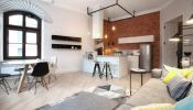 Tham khảo thiết kế một căn hộ 78m2 theo phong cách nội thất Industrial ở Ba Lan
