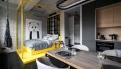 Nét cá tính và hiện đại trong phong cách thiết kế của ngôi nhà 40m2 tại Nga