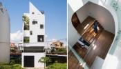Thiết kế lệch tầng mang lại không gian thoáng đãng cho Liên Thông House