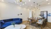 Phong cách thiết kế bán cổ điển trong căn hộ chung cư cao cấp Vinhomes Golden River