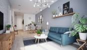 Thiết kế phòng khách theo phong cách Scandinavia