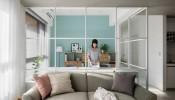 Ấn tượng với không gian sống thoáng đãng cùng gam màu dịu ngọt bên trong ngôi nhà của cặp vợ chồng trẻ ở Đài Bắc