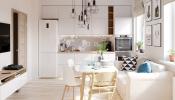 4 Thiết kế căn hộ hiện đại kết hợp nội thất gỗ và tông màu trắng tươi sáng có hiệu quả