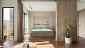 Vách ngăn di động - thiết kế đặc biệt dành cho căn hộ 74m2 ở Hà Nội