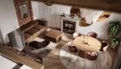 2 mẫu thiết kế nội thất gỗ với chủ đề màu sắc gắn kết