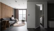 Các khối hộp chữ nhật đảm bảo cuộc sống tiện nghi trong căn hộ 63m2