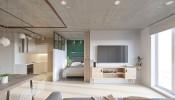'Mê mẩn' với thiết kế không gian độc đáo trong căn hộ 25m2