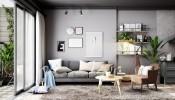 Mẫu căn hộ màu xám dành cho những người thích sự giản dị