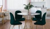 Những kiểu bàn ăn bằng kính cho phòng ăn thêm đẳng cấp