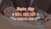 Tháng 1-2020 mua nhà ngày nào tốt?