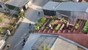 Kiến trúc hiện đại pha lẫn cổ điển trong ngôi nhà mái đỏ 90m2 tại Quảng Ngãi