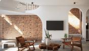 Ngôi nhà hiện đại ấn tượng với điểm nhấn từ gạch trần