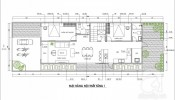 Tư vấn thiết kế nhà ở nông thôn trên đất có diện tích 7x20 m