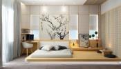 Phòng ngủ kiểu Nhật: đơn giản mà sang trọng