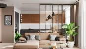 Thiết kế nội thất căn hộ 50m2 2 phòng ngủ kinh phí đầu tư 50 triệu