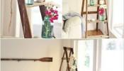 Làm sao để biến thang gỗ thành đồ trang trí trong nhà
