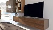 Mẫu kệ tivi gỗ trang trí phòng khách đẹp