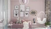 Muôn kiểu phối tông màu hồng dịu ngọt cho phòng ngủ bé gái