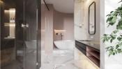 """Phòng tắm với sắc hồng cá tính """"nhìn là mê"""""""