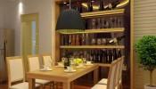 Kích thước tủ rượu âm tường tiêu chuẩn cho nhà sang trọng