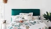 Mẫu giường ngủ phong cách Mid-century đơn giản và thanh lịch