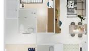 Thiết kế thi công trọn gói căn hộ Central Premium Q.8 chỉ 180 triệu cho vợ chồng trẻ