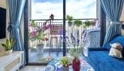 Khám phá Căn hộ 46m² đẹp tươi tắn với sắc xanh mùa hè của chàng sinh viên Hà Nội