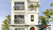 """Khám phá mẫu biệt thự 3 tầng có gara theo phong cách """"bán cổ điển"""""""