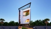 Tham khảo mẫu thiết kế nội thất nhà phố 3 tầng có gara