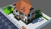 Khám phá mẫu nhà biệt thự 2 tầng mái thái đậm tinh hoa và tuyệt tác thẩm mĩ