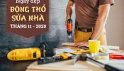 Ngày đẹp làm nhà, dựng nhà mới tháng 11/2020 theo tuổi