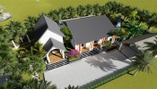 Mê mẩn với ngôi nhà vườn bên đồng lúa xanh mát của chàng trai kiến trúc sư tặng bố mẹ an hưởng tuổi già