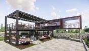 Cập nhật mẫu thiết kế quán cafe độc đáo cùng kết cấu khung thép