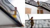 Lan can cầu thang nghệ thuật độc đáo lấy cảm hứng từ mặt cắt mô thực vật