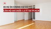 Toàn cảnh các dự án có căn hộ chung cư giá dưới 1.5 tỷ tại TP. HCM