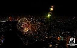 """Chiêm ngưỡng """"đại tiệc"""" pháo hoa chào năm mới 2019 lần đầu tiên được bắn tại toà nhà cao nhất Việt Nam Landmark 81"""