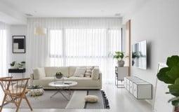 Vẻ đẹp sang trọng khi kết hợp tông màu trắng đen trong căn hộ phong cách Scandinavian.