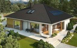 Biệt thự vườn 1 tầng với mái thái cách điệu