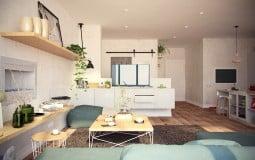 Vẻ đẹp hiện đại trong căn hộ dưới 100m2
