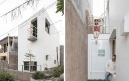 Khám phá ngôi nhà màu trắng hình hộp đơn giản mà hiện đại