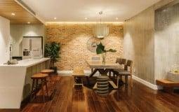 Không bóng bẩy cũng chẳng xa hoa, căn hộ 120m2 vẫn mang lại cảm giác hiện đại với tông màu nâu đất