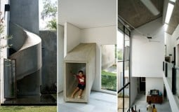 Đường trượt bê tông xoắn ốc -  điểm nhấn thú vị của ngôi nhà mang tên Play House