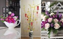 Ngôi nhà của bạn sẽ tràn ngập không khí Tết với những cách cắm hoa đơn giản mà tinh tế