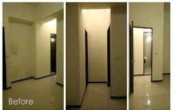 Hai hình ảnh hoàn toàn đối lập của căn hộ 30m2 trước và sau cải tạo