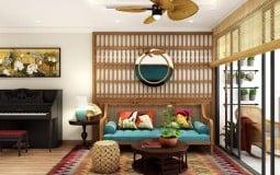 Nét hoài cổ trong ngôi nhà hiện đại có nội thất tre gỗ