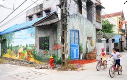 Những hình ảnh sinh động ở làng bích họa Hà Nội
