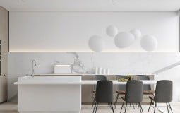 30+ mẫu nhà bếp bằng đá cẩm thạch đẹp sang trọng tham khảo