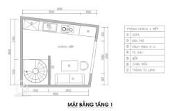 Tư vấn phương án thiết kế nhà 3 tầng 1 tum trên đất xéo